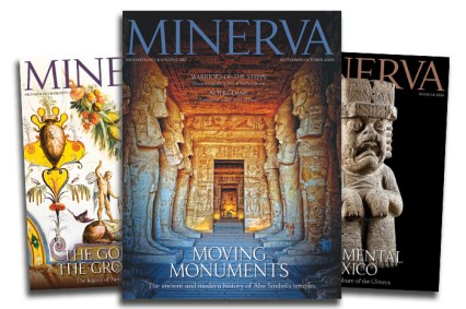 Fan of three Minerva magazine front covers