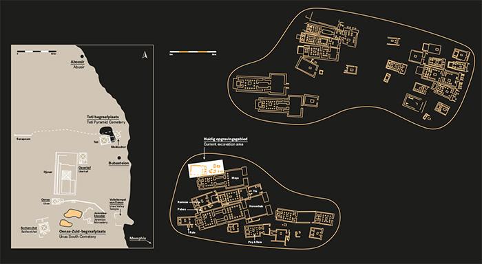 A diagram of the necropolis