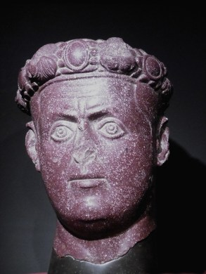 A stone bust of Galerius