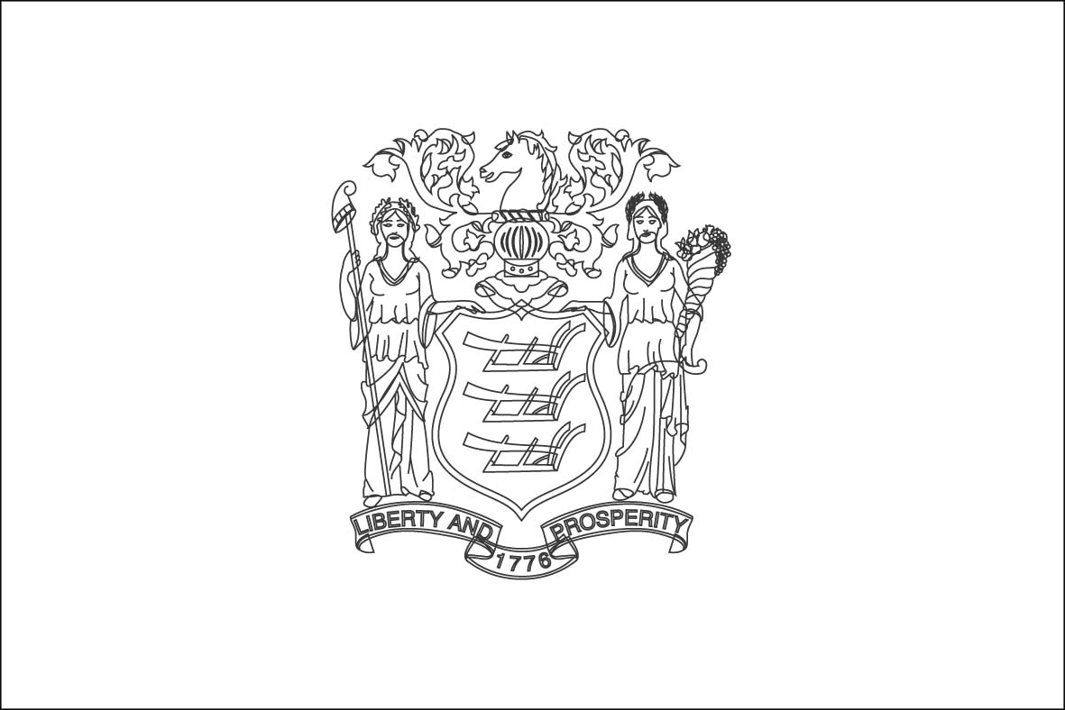 New Jersey Symbols Coloring Pages