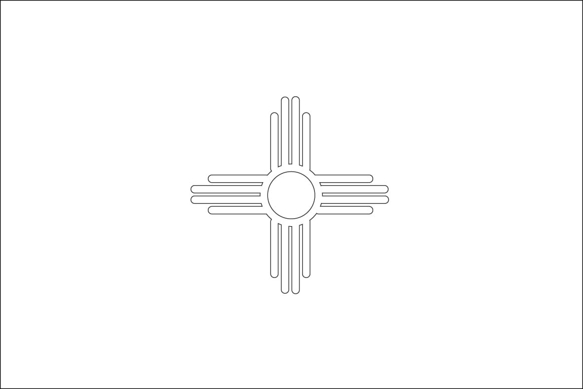 State Flag Of New Mexico Coloring Page