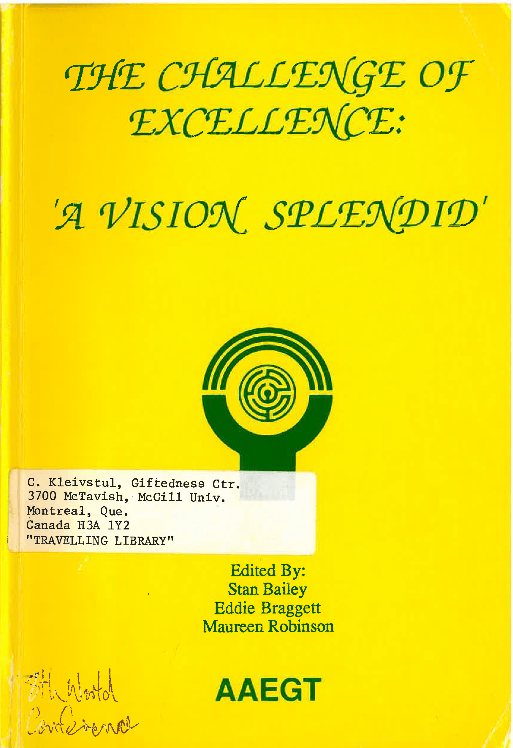 1989 World Conference Proceedings Cover Sydney Australia
