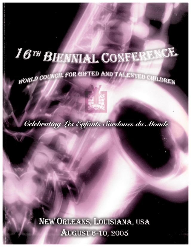 2005 World Conference Program Cover New Orleans Louisiana