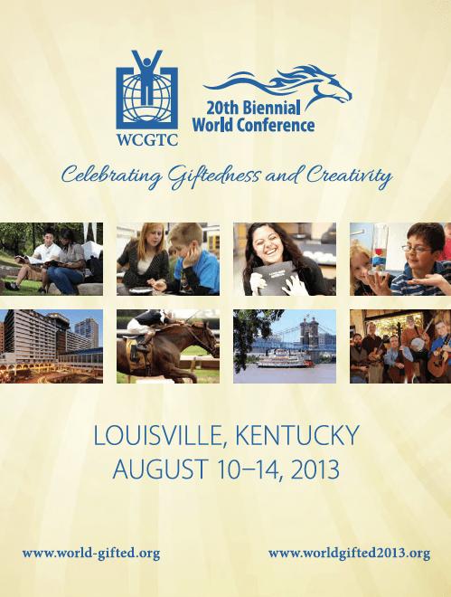 2013 World Conference Program Cover Louisville Kentucky