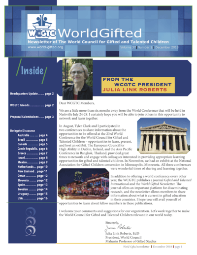 World Gifted Newsletter 37(2)