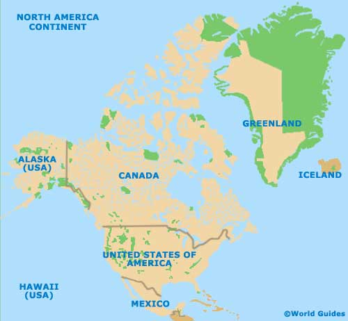 map of american continent cartoon map of north america continent