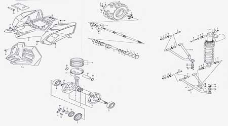 honda atv parts diagram