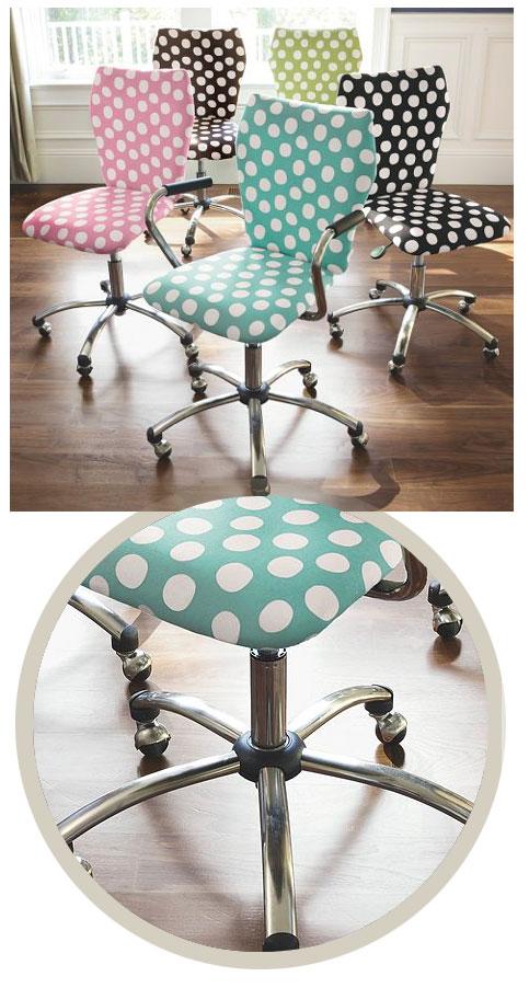 chaises de bureau tendances a pois