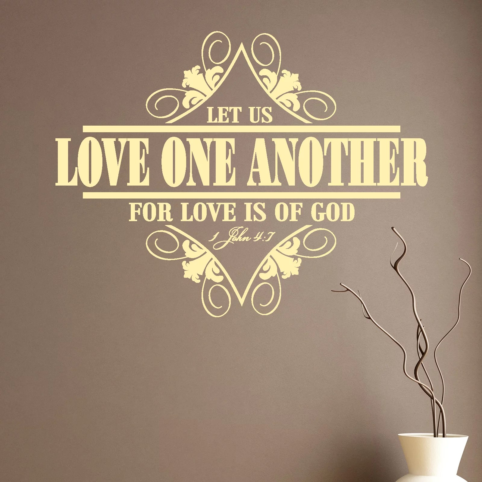 Love One Another Religious Quote Wall Sticker