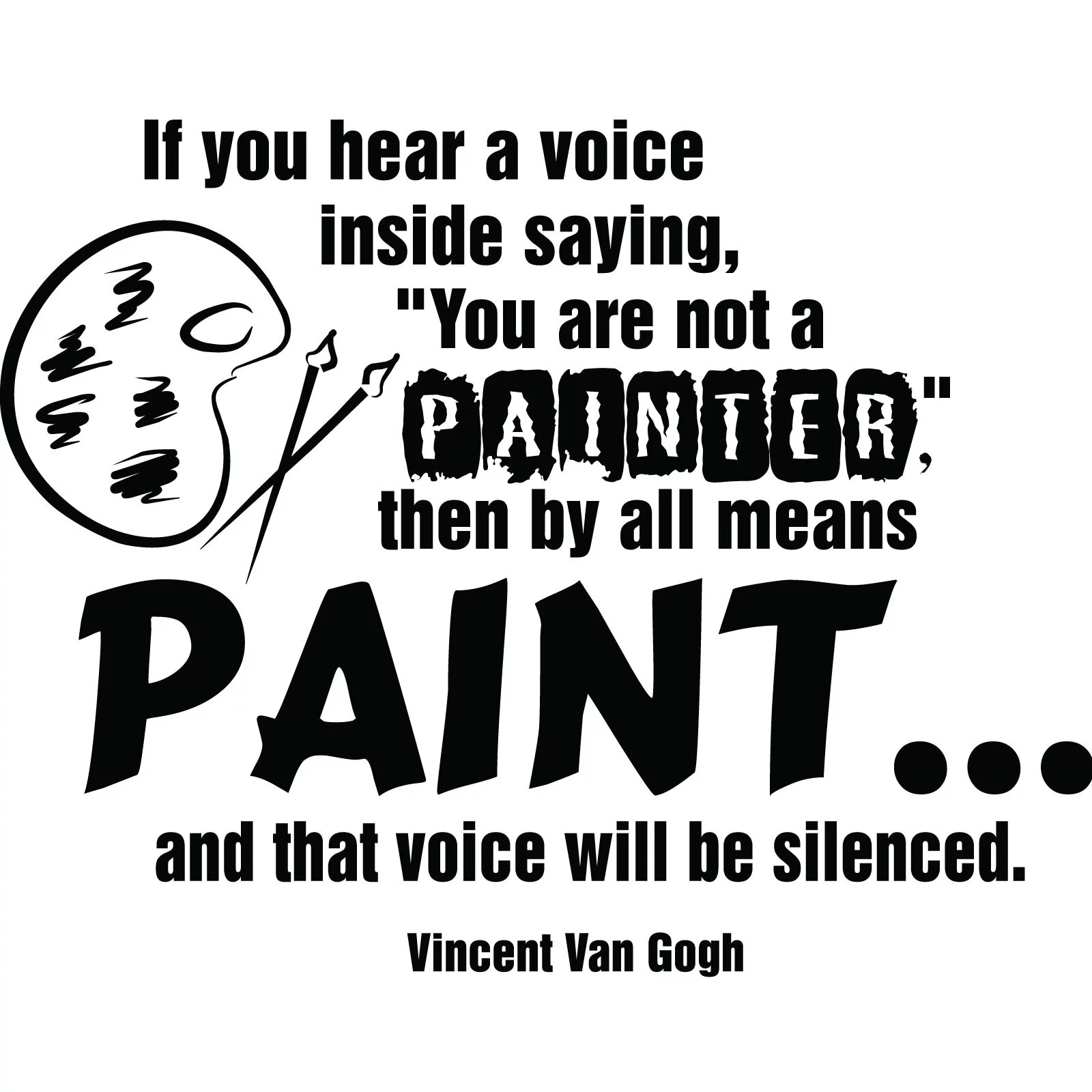 Paint Vincent Van Gogh Quote Wall Sticker