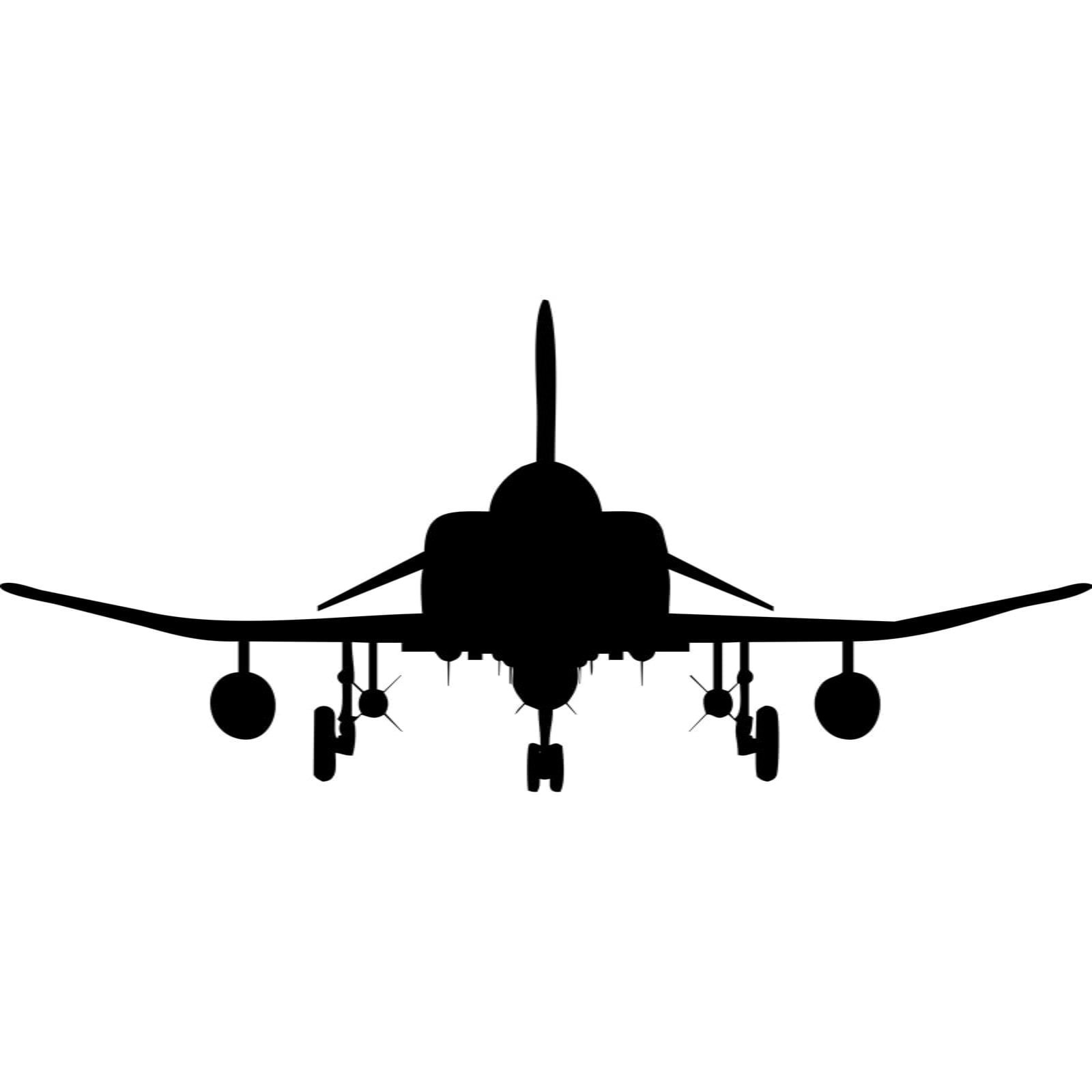 Fighter Jet Front Silhouette Wall Sticker