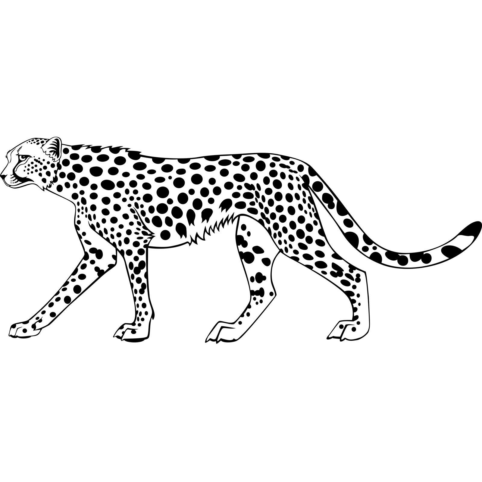 Leopard Big Cat Wall Sticker Decal