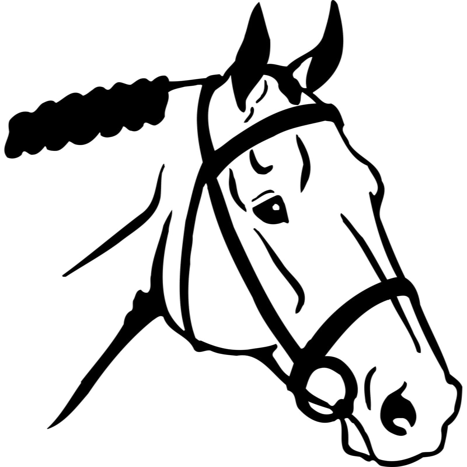 Horse Head Wearing Harness Animal Wall Sticker