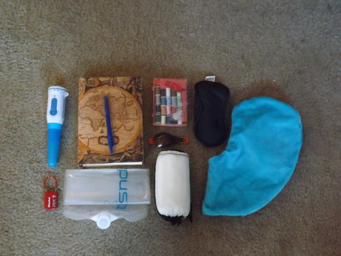 This is just a small portion of my RTW packing list.