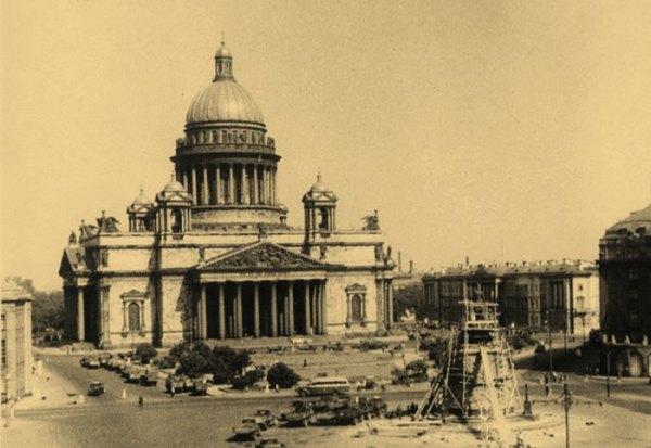 Вторая Мировая Война » Исаакиевский собор в дни блокады