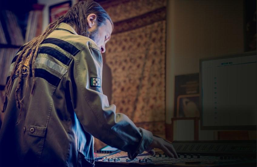 Christos in his home studio