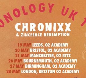 Chronixx UK Tour