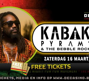 3x 2 Free Tickets for Kabaka Pyramid at De Casino, Sint-Niklaas (BE)