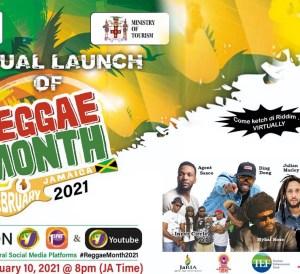 Virtual Launch of Reggae Month - Jamaica, February 2021