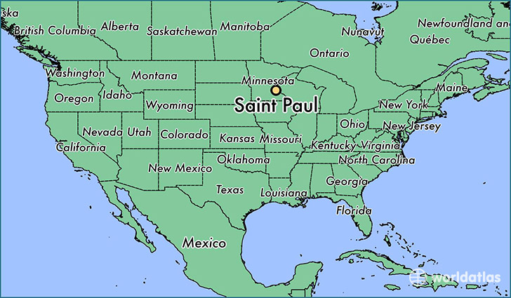 Image result for st paul minnesota map