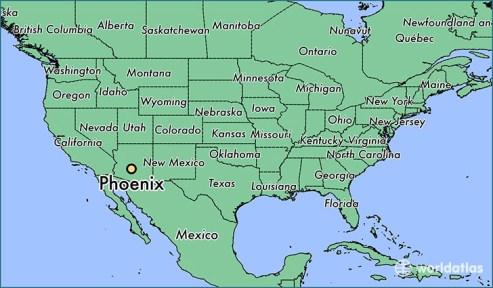 Αποτέλεσμα εικόνας για arizona on map