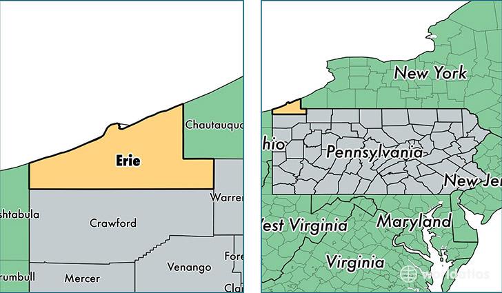 County Pennsylvania Erie Map