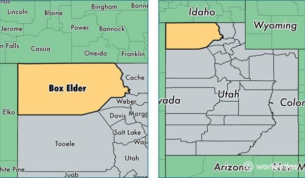 Box Elder County, Utah / Map of Box Elder County, UT ...