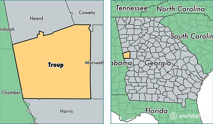 Area Hogansville Map
