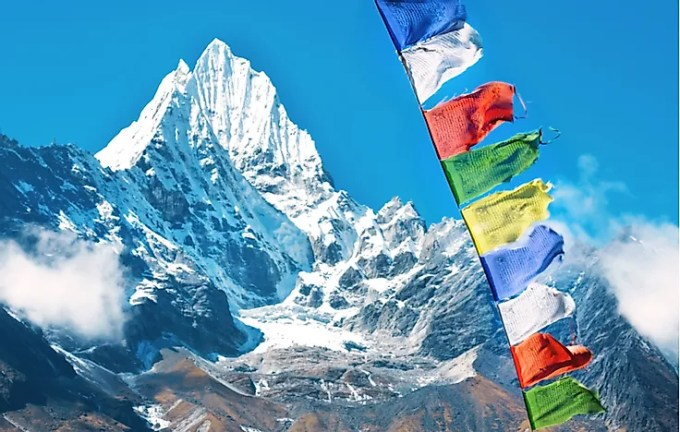 Mount Everest as seen from Nepal.