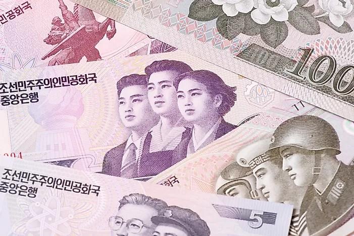 Notas da Coreia do Norte.