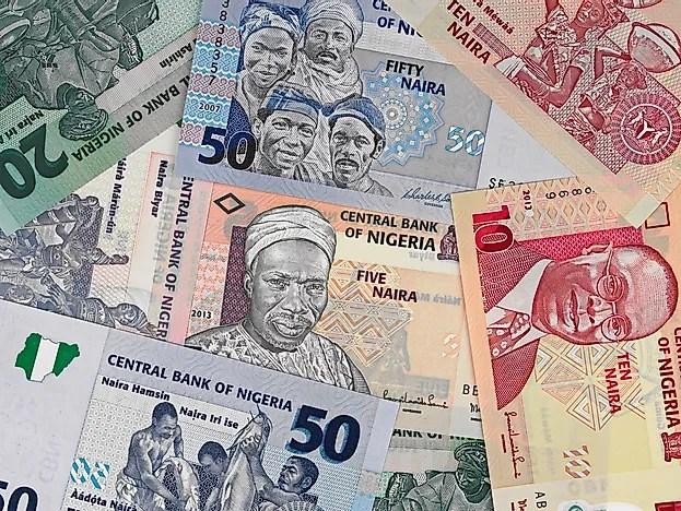 Contas nigerianas de Naira.