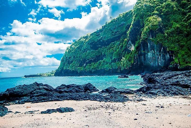 Uma praia em Comores.