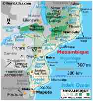 Mozambique Maps Facts World Atlas