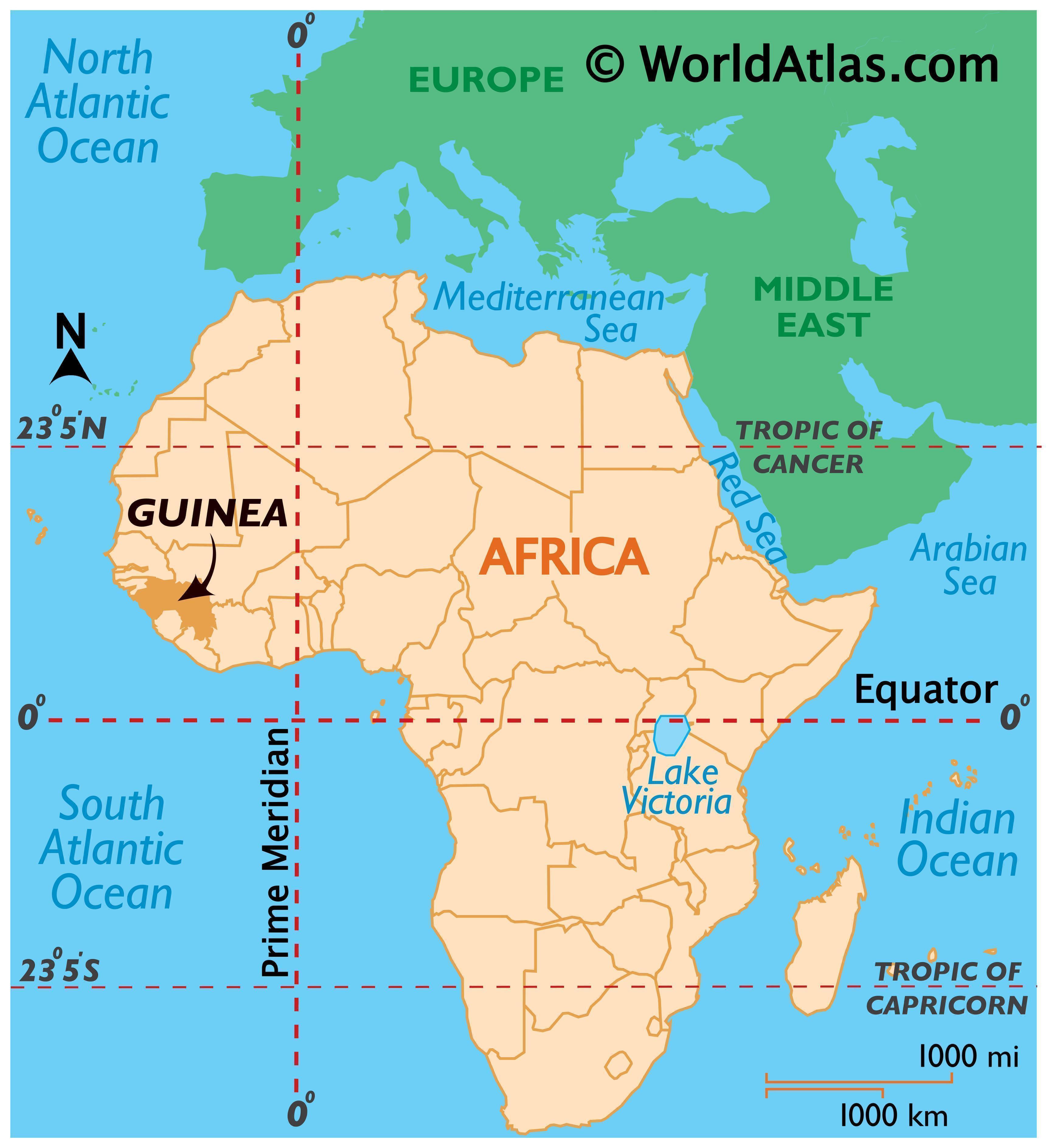 Guinea Maps Facts World Atlas