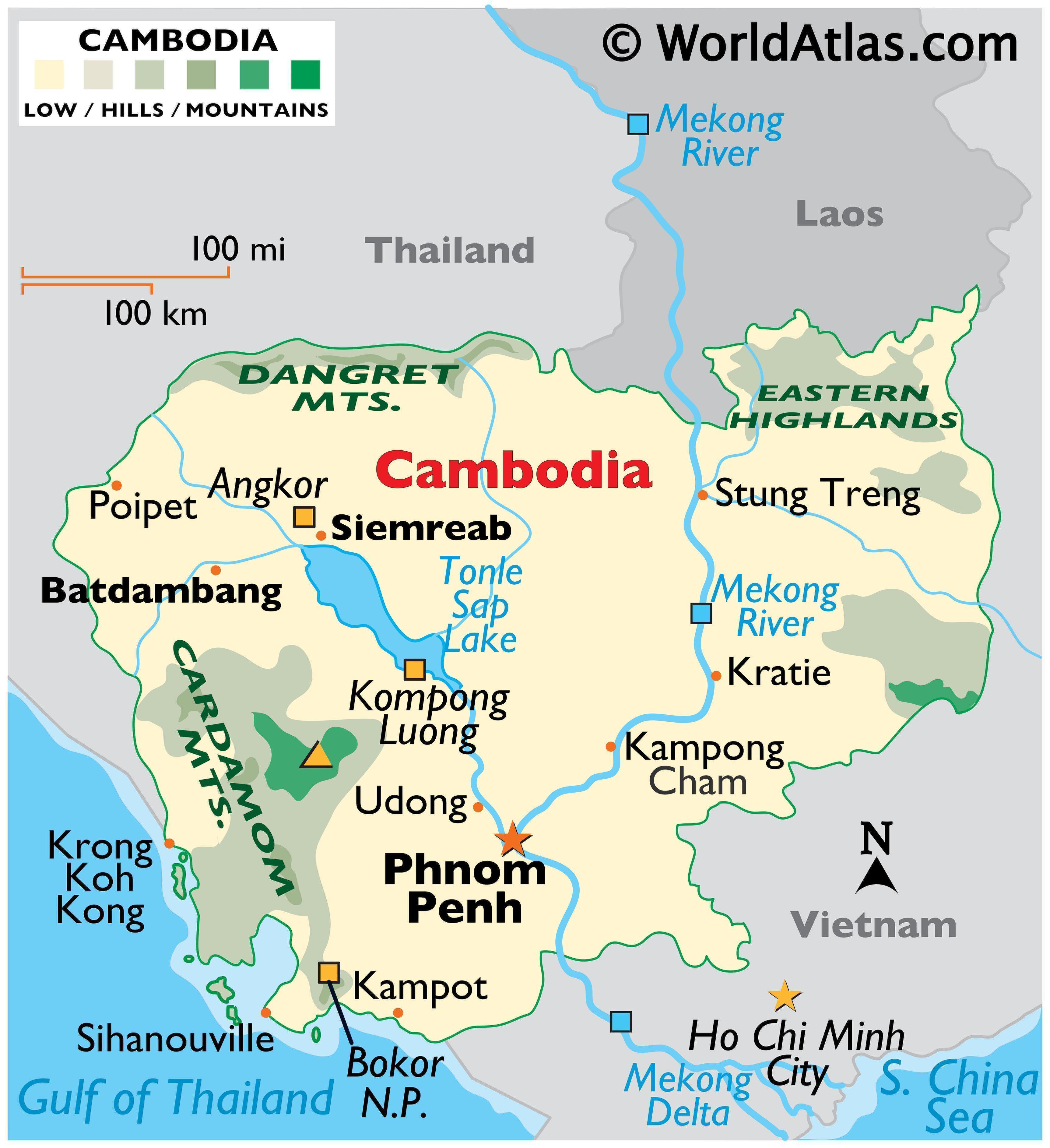 Cambodia Maps Amp Facts