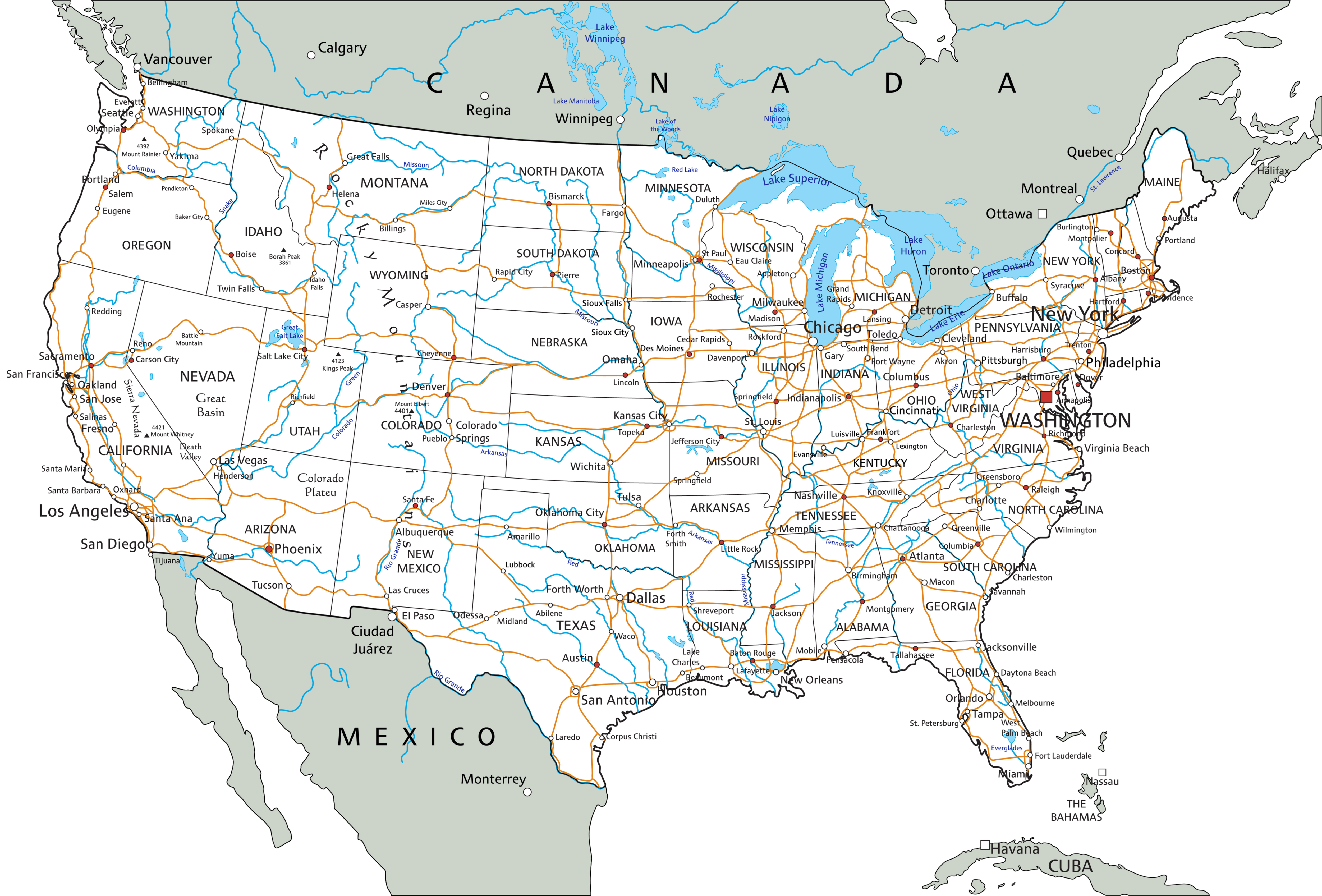 Maps are a terrific way to learn about geography. United States Map World Atlas