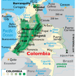 Map Of Colombia World Atlas