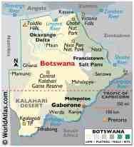 Botswana Maps Facts World Atlas