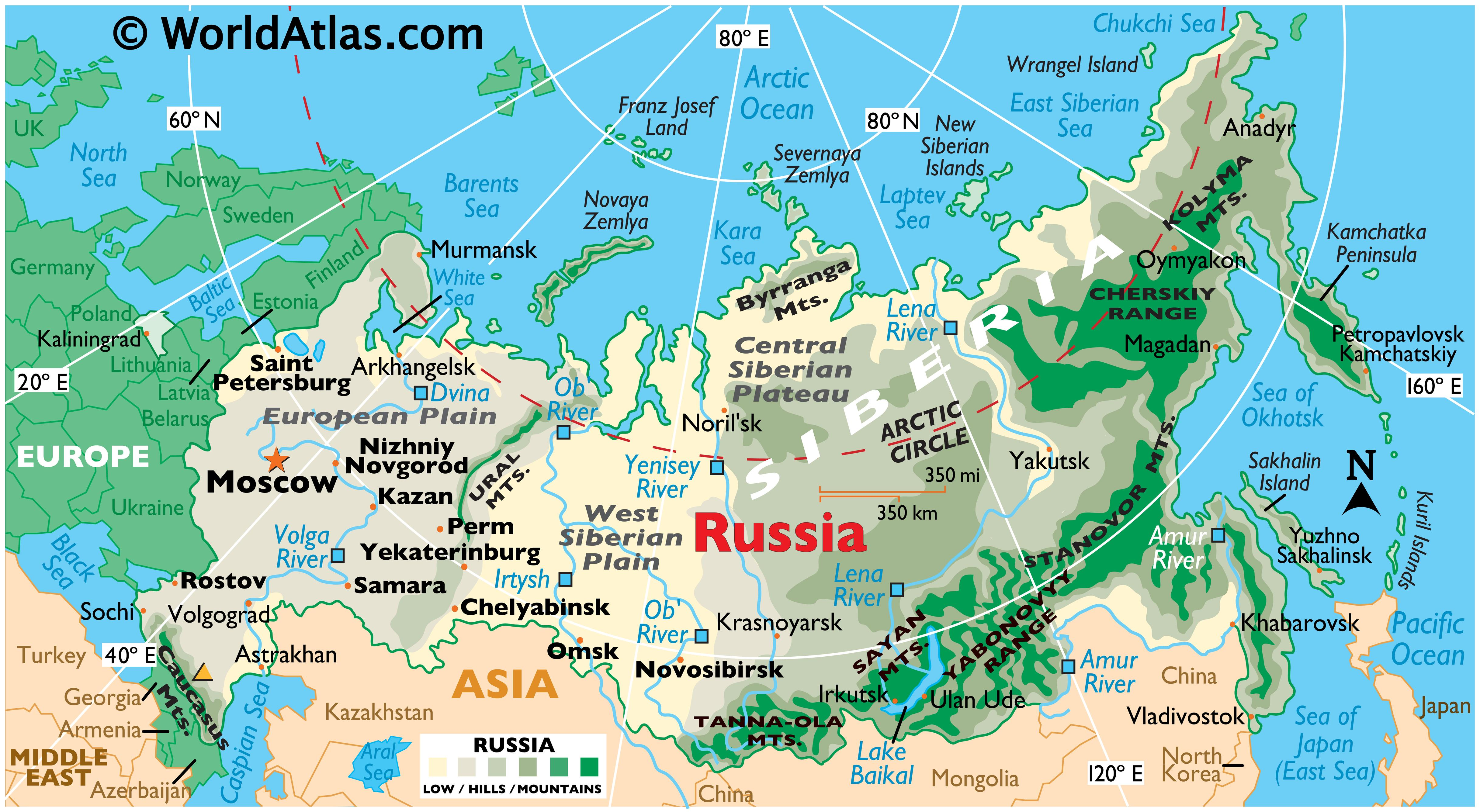 Russia Maps Amp Facts