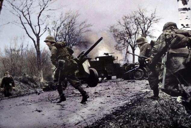 Soldados alemães na batalha do Bulge.  Crédito editorial: Everett Historical / Shutterstock.com.