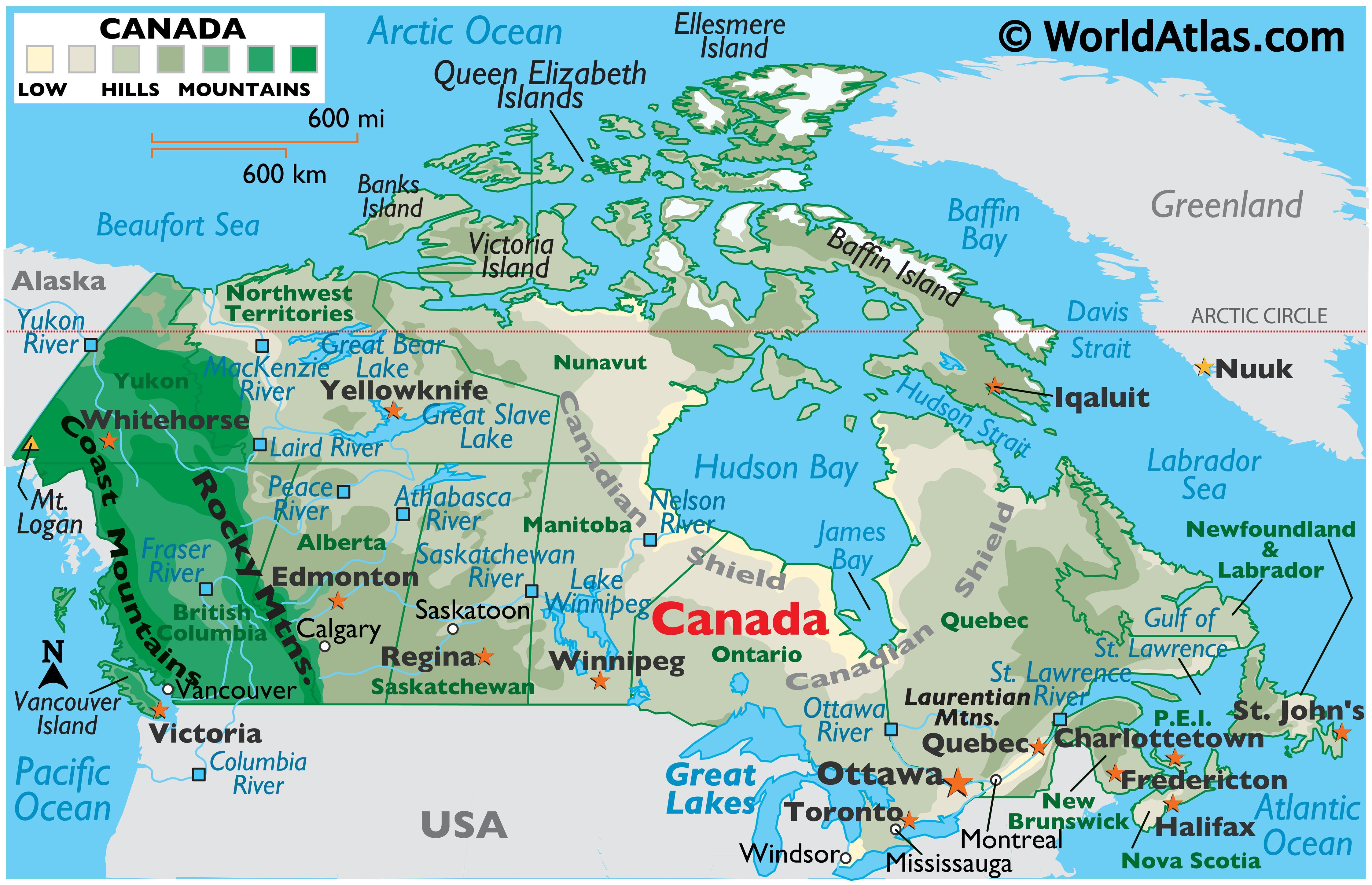 Canada Maps Facts World Atlas