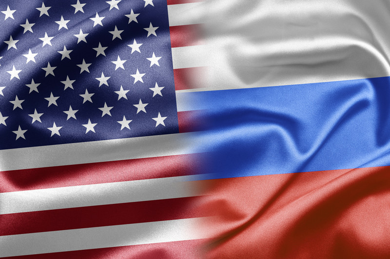 Image result for american and russian flags together