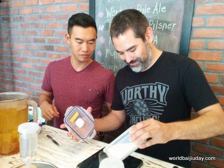 jing-a baijiu beer tests for world baijiu day beijing china