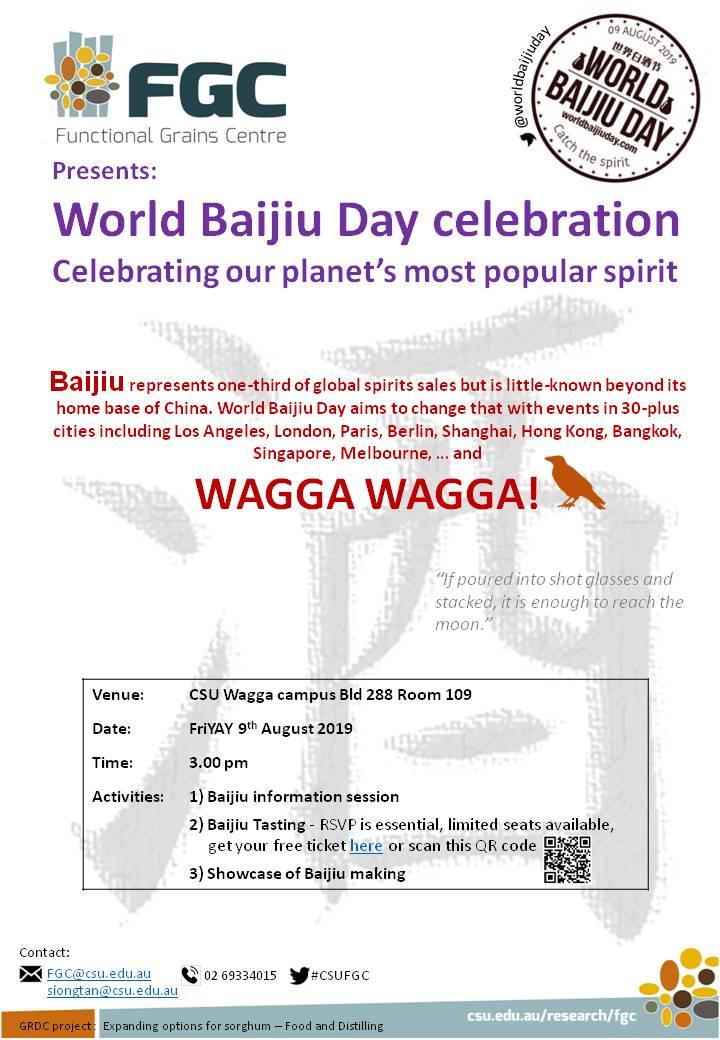 world baijiu day 2019 wagga wagga tasting