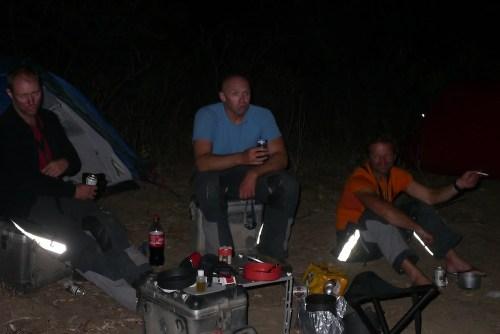Gelöste Stimmung im Camp