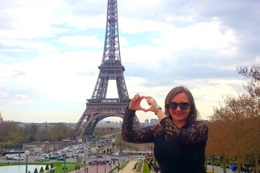 Eiffel Tower in Paris amazing view from Trocadero