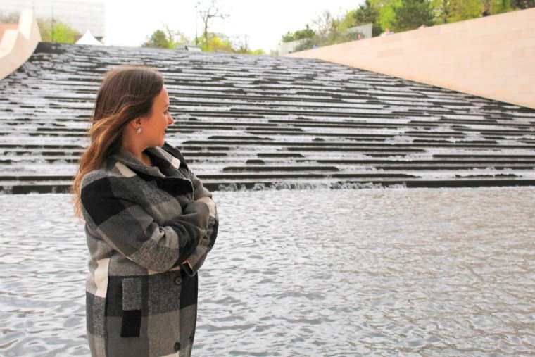 water stairs in Foundation Louis Vuitton