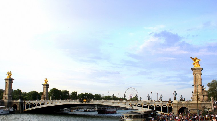 Alexandre Bridge , view from Invalides Bridge