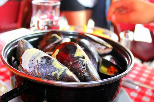 Moules in Cassis restaurant
