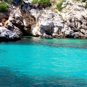 Cote d'Azur color of the water
